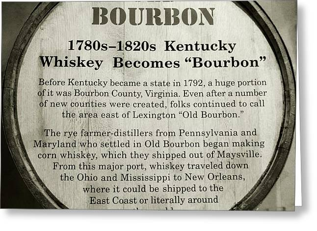 Old Bourbon Greeting Card by Mel Steinhauer
