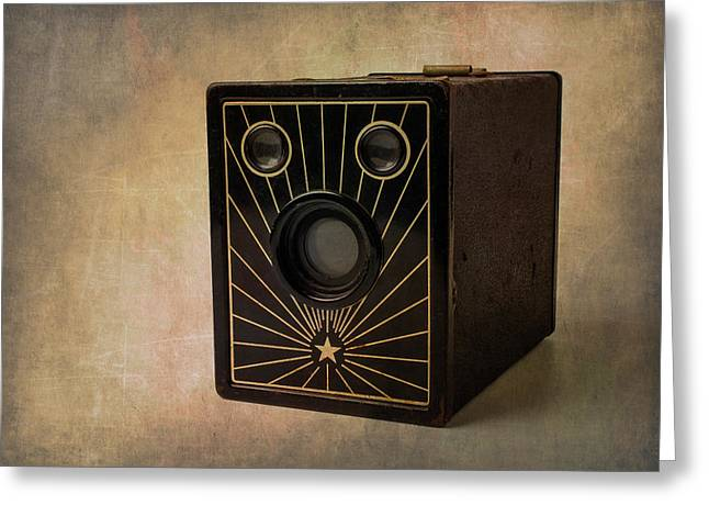 Old Box Camera Greeting Card by Garry Gay