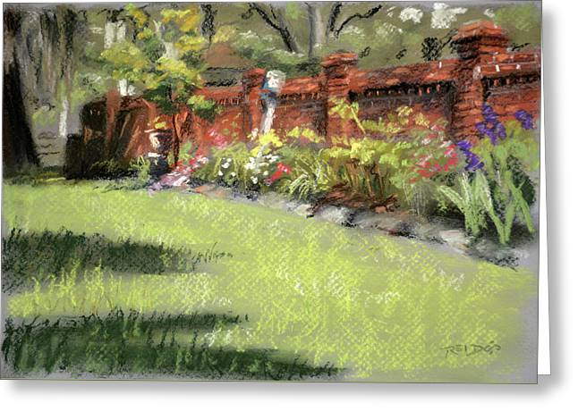 Old Brick Garden Wall Greeting Card by Christopher Reid