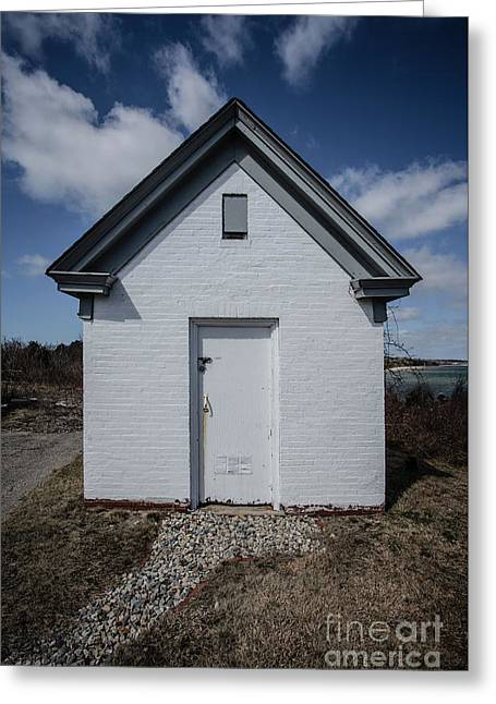 Old Brick Outbuilding Cape Cod Greeting Card