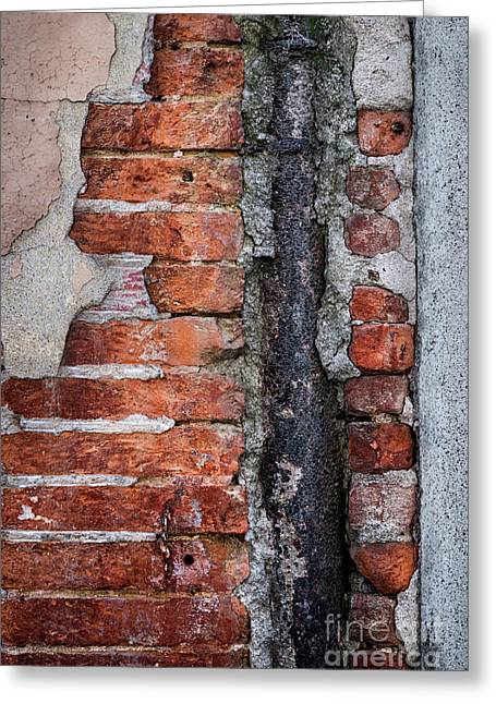 Old Brick Wall Fragment Greeting Card by Elena Elisseeva