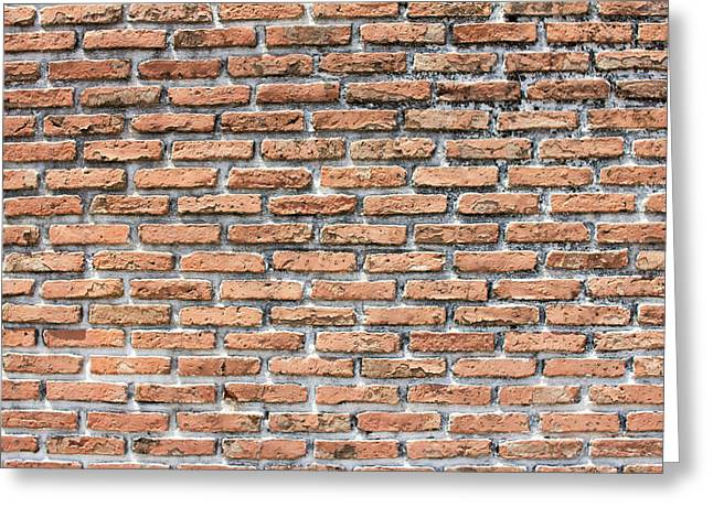 Greeting Card featuring the photograph Old Brick Wall by Jingjits Photography
