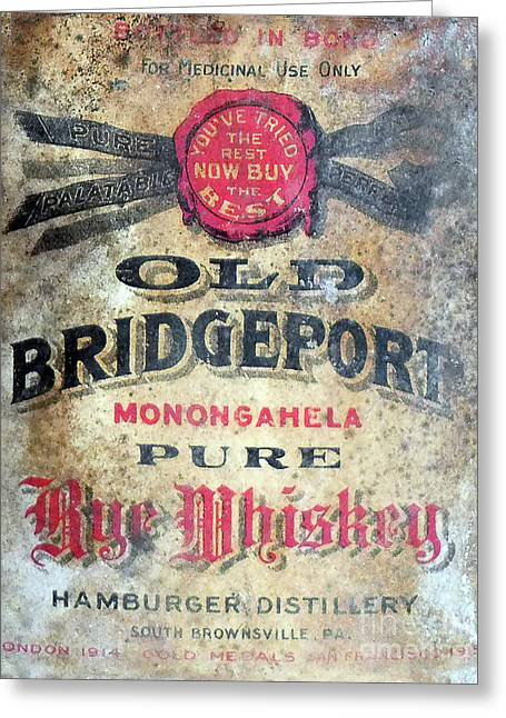Old Bridgeport Rye Whiskey Greeting Card by Jon Neidert