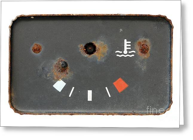 Old Broken Usek Oil Gauge Greeting Card by Michal Boubin