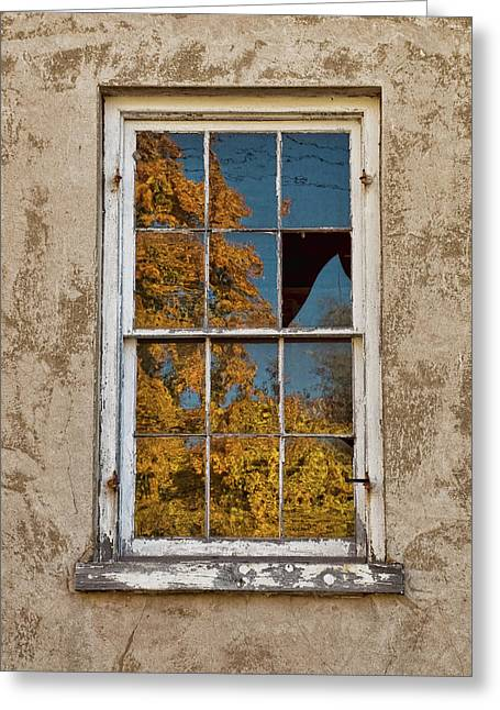 Greeting Card featuring the photograph Old Broken Window by Michael Flood