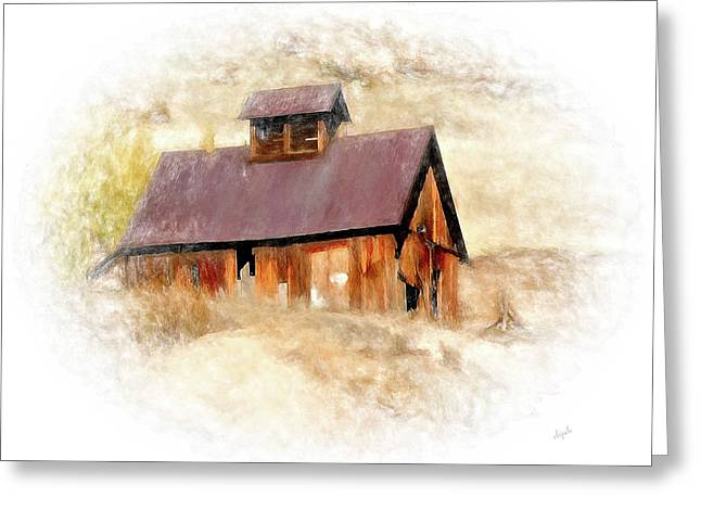 Old Building Greeting Card by Elijah Knight
