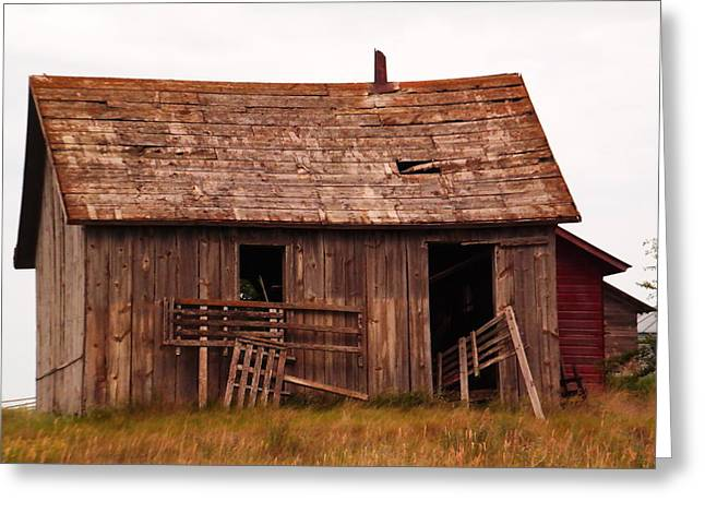Old Building Greeting Card by Jeff Swan