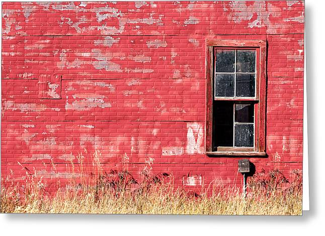 Old Building Red Wall Greeting Card