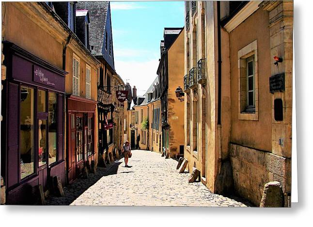 Old Buildings In France Greeting Card