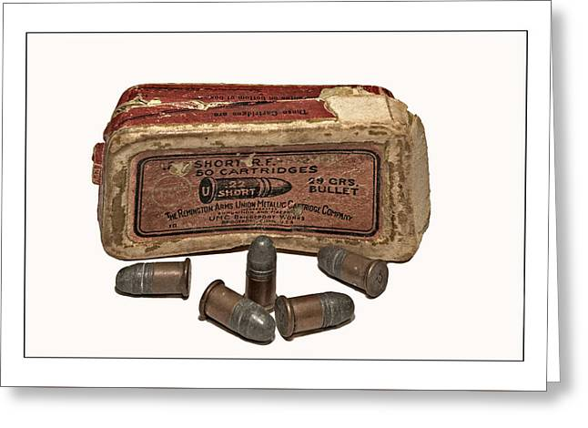 Old Bullets Greeting Card by Susan Leggett