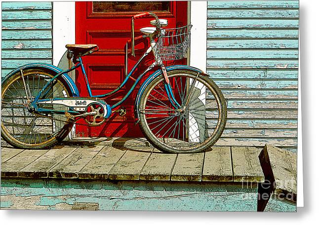 Old Bicycle. Warren, Vermont Greeting Card