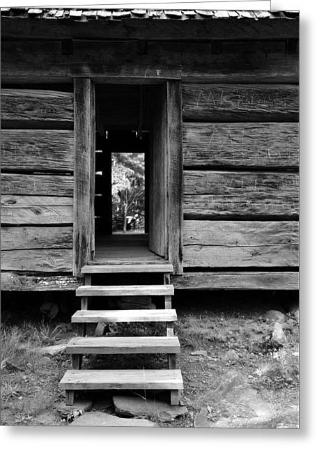 Old Cabin Greeting Card by David Lee Thompson