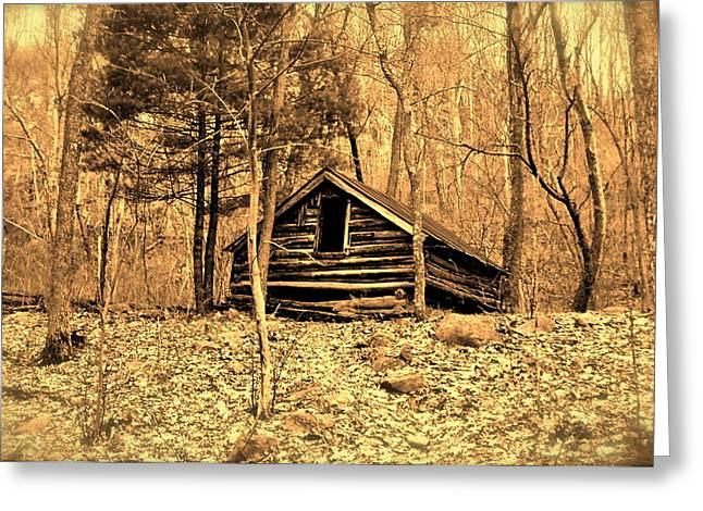 Log Cabins Greeting Cards - Old Cabin Greeting Card by E Robert Dee