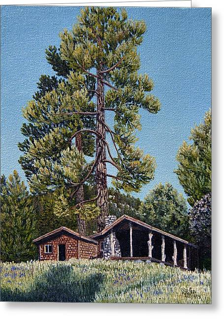 Old Cabin In The Pines Greeting Card