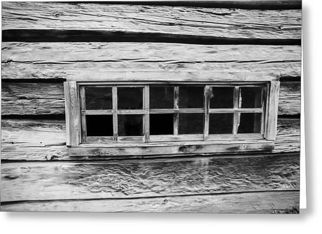 Old Cabin Window Greeting Card