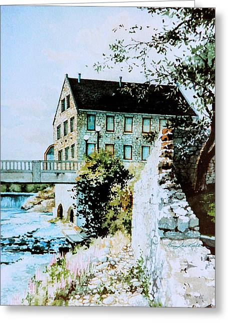 Old Cambridge Mill Greeting Card by Hanne Lore Koehler