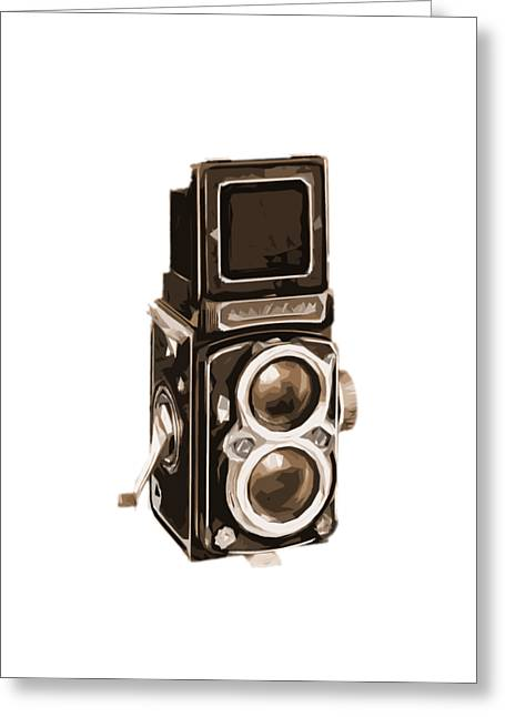 Old Camera Phone Case Greeting Card by Edward Fielding