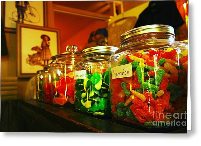 Old Candy Jars   Greeting Card by Jeff Swan
