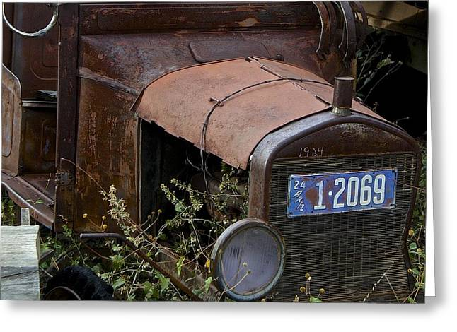 Old Car Greeting Card by Anthony Jones