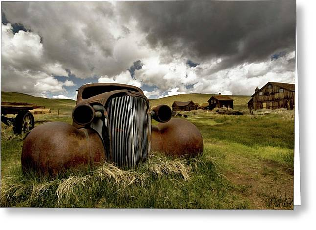 Old  Car Bodie State Park Greeting Card