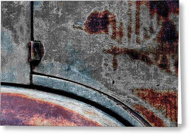 Old Car Weathered Paint Greeting Card by Carol Leigh