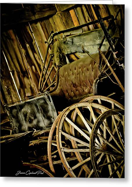 Greeting Card featuring the photograph Old Carriage by Joann Copeland-Paul