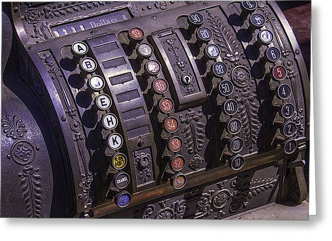 Old Cash Register Greeting Card by Garry Gay