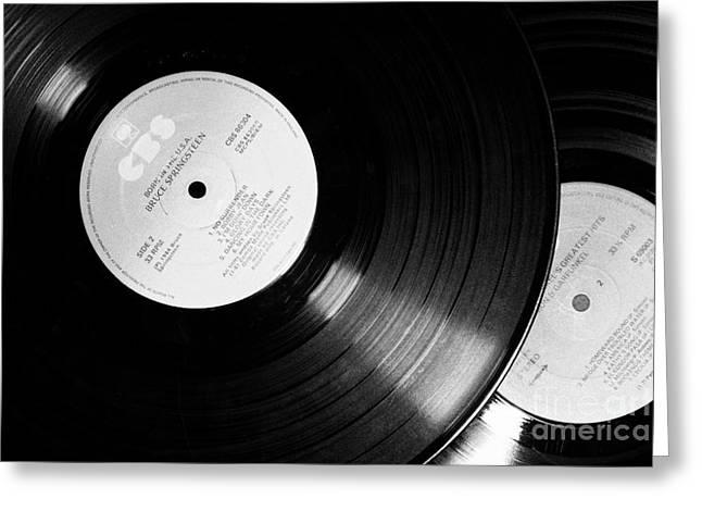 Old Cbs Lp Lps Vinyl Records Greeting Card by Joe Fox