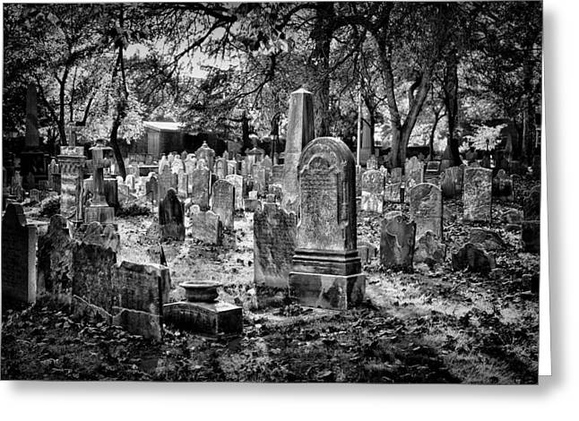 Blackrussianstudio Greeting Cards - Old Cemetery in Philadelphia 1 Greeting Card by Val Black Russian Tourchin