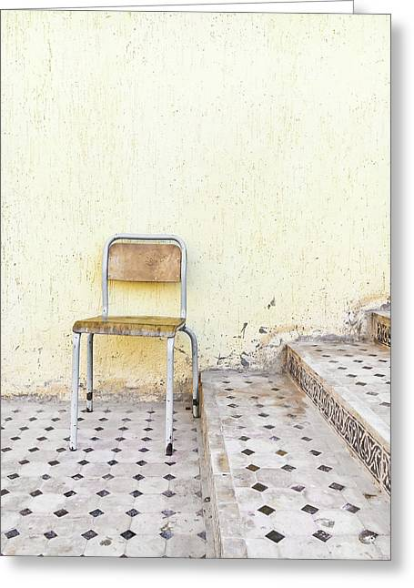 Old Chair Greeting Card by Tom Gowanlock