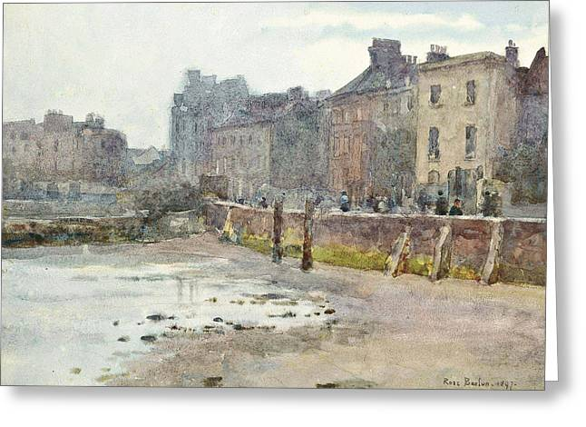 Old Chelsea Wall, London Greeting Card
