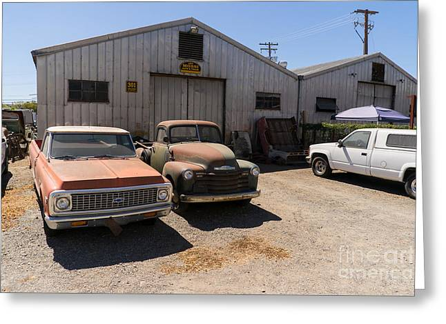 Old Chevrolet Trucks At The Art Mossi Auto And Truck In Petaluma California Usa Dsc3853 Greeting Card by Wingsdomain Art and Photography