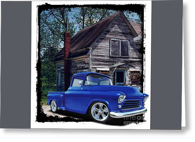 Old Chevy, Old Building Greeting Card by Paul Kuras