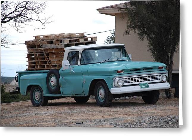 Greeting Card featuring the photograph Old Chevy by Rob Hans