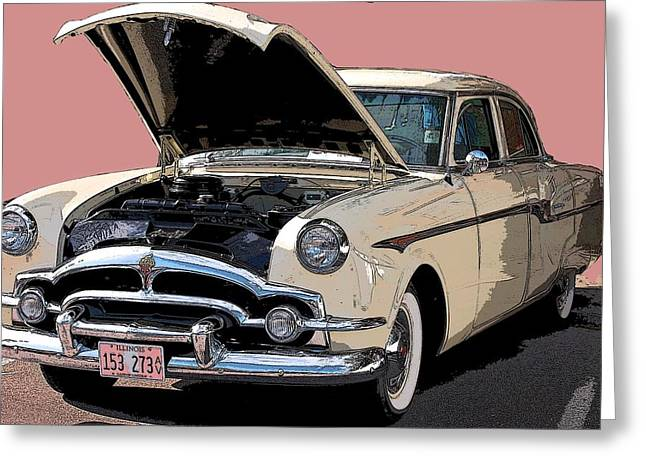Old Chevy Greeting Card by Robert Meanor