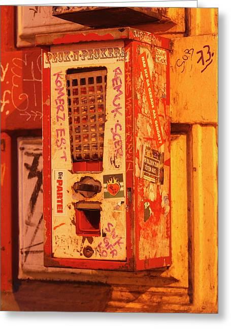 Old Chewing Gum Machine Greeting Card by Torsten Krueger