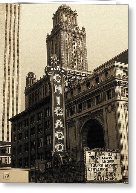 Old Chicago Theater - Vintage Art Greeting Card