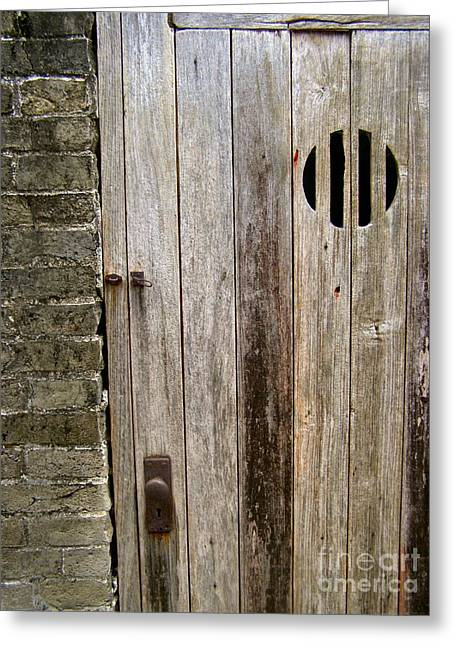 Old Chinese Village Door Series Fifteen Greeting Card by Kathy Daxon