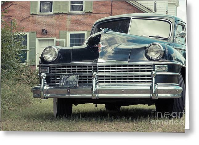 Old Chrysler Sedan Windsor Vermont Greeting Card