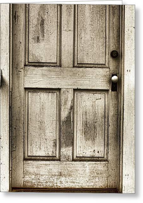 Old Church Door Greeting Card by Bonnie Bruno