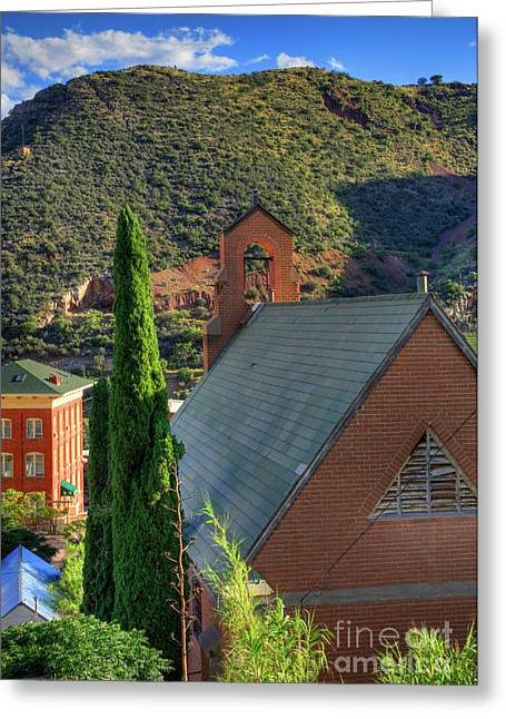 Old Church In Bisbee Greeting Card