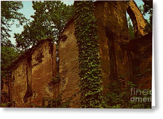Old Church Ruins  Greeting Card by Ruth  Housley