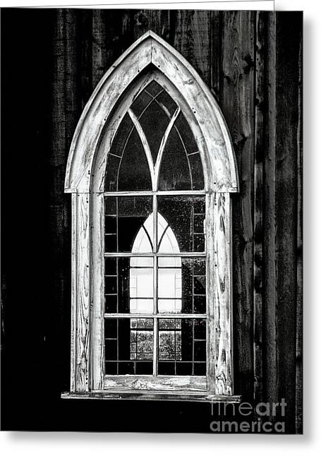Greeting Card featuring the photograph Old Church Window by Brad Allen Fine Art