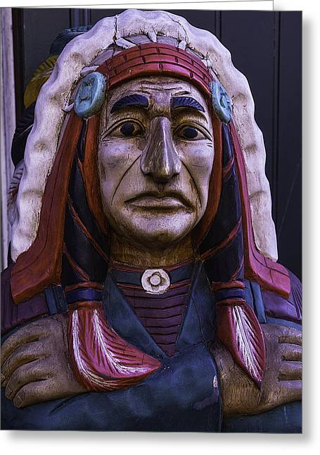 Old Cigar Store Indian Greeting Card
