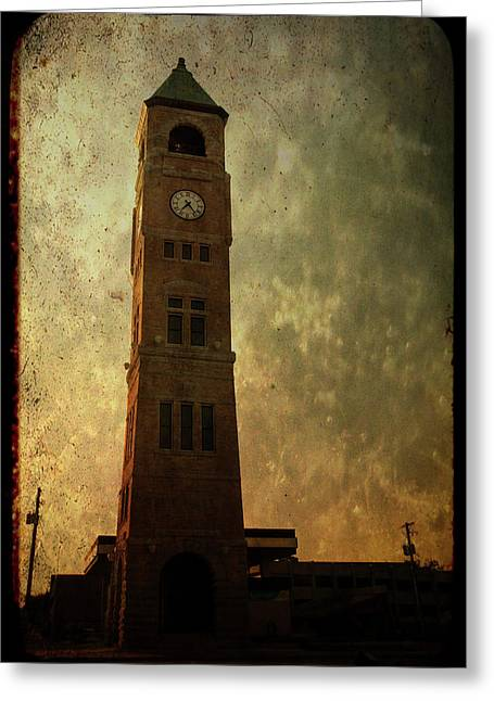 Old City Hall Clock Tower Greeting Card by Joel Witmeyer