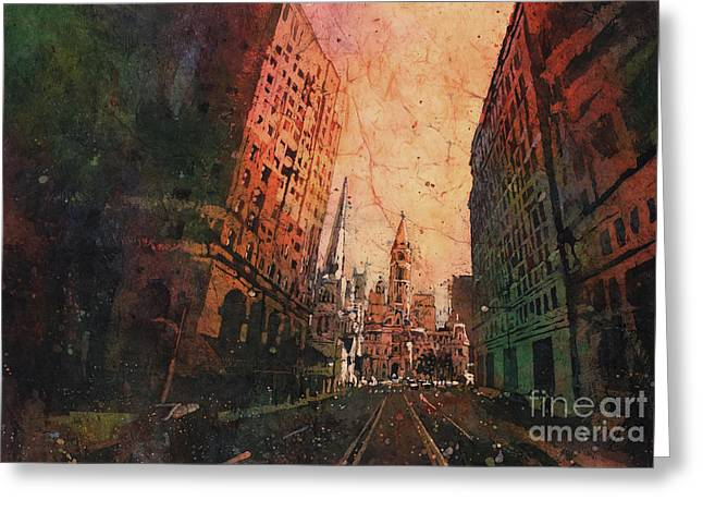 Old City Hall- Philadelphia Greeting Card by Ryan Fox