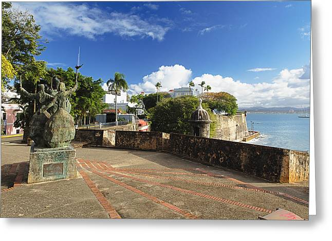 Rogativa Greeting Cards - Old City in the Caribbean Greeting Card by George Oze