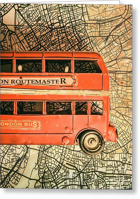 Old City Transit Greeting Card
