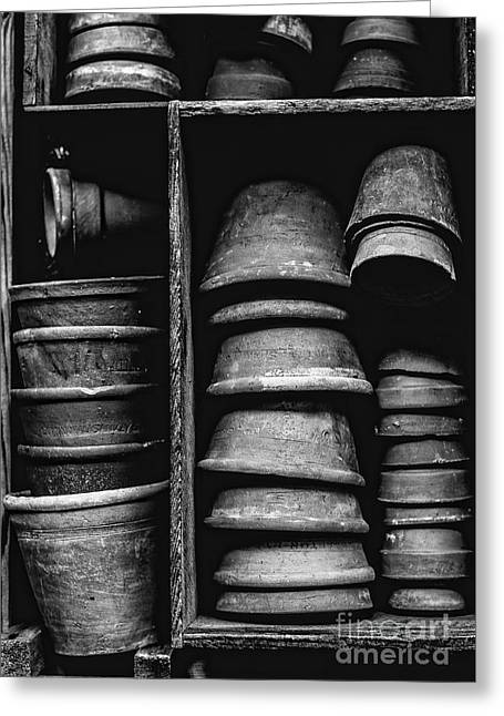 Old Clay Pots Greeting Card by Edward Fielding
