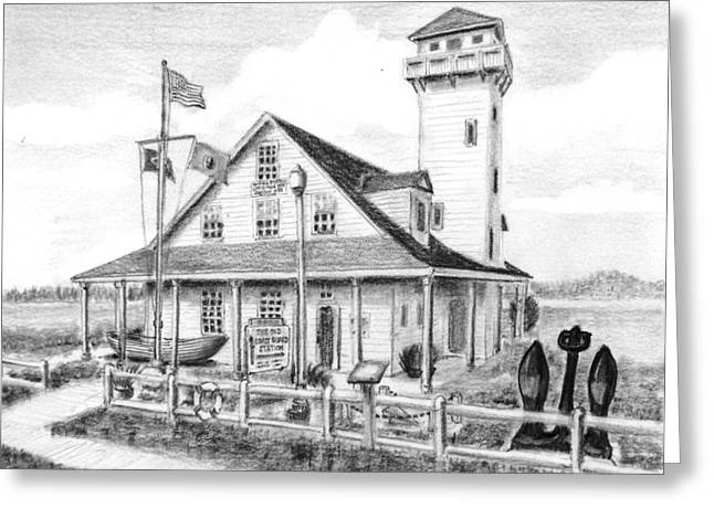 Old Coast Guard Station Greeting Card